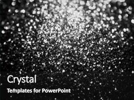 Audience pleasing presentation theme consisting of black silver glitter sparkle background backdrop and a black colored foreground.