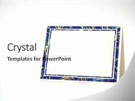 Cool new PPT layouts with blank greeting card isolated backdrop and a white colored foreground.