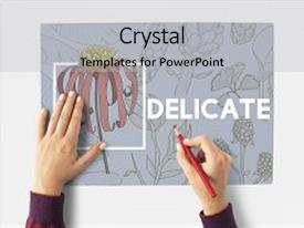 PPT theme consisting of blooming floral arts and crafts background and a light gray colored foreground.