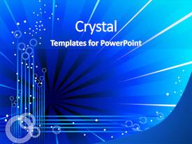 Colorful PPT theme enhanced with blue abstract background backdrop and a cobalt blue colored foreground.