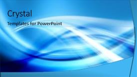 Presentation theme featuring blue abstract composition background and a cyan colored foreground