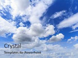 PPT theme enhanced with blue sky background with white background and a light blue colored foreground.