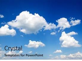 Beautiful slides featuring blue sky with cloud closeup backdrop and a light blue colored foreground