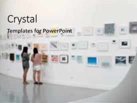 5000 exhibition powerpoint templates w exhibition themed backgrounds colorful presentation theme enhanced with museum room art gallery exhibition backdrop and a sky blue colored toneelgroepblik Image collections