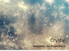 Slide deck enhanced with blurred bokeh of christmas light background and a coral colored foreground