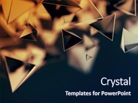 Theme featuring 3d pyramid - bokeh effect poster design background and a navy blue colored foreground.