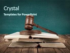 PPT theme consisting of book gavel legal system education background and a ocean colored foreground