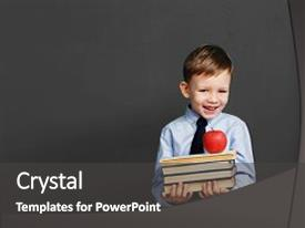 Presentation enhanced with kids - book school kid little student background and a dark gray colored foreground.