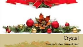 Slide set featuring border - delicate christmas ornaments isolated background and a yellow colored foreground