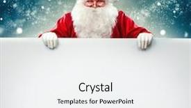 Amazing slide deck having border - happy santa claus holding blank backdrop and a white colored foreground