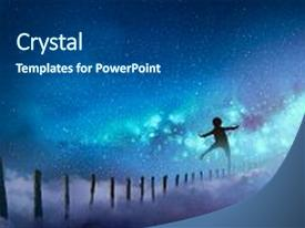 5000 digital art powerpoint templates w digital art themed backgrounds theme enhanced with boy balancing on wood sticks against the milky way with many stars digital toneelgroepblik Images