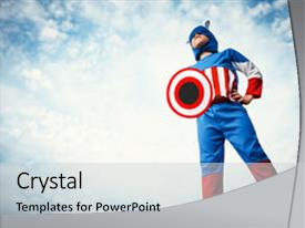 200 captain america powerpoint templates w captain america themed presentation theme having boy dressed as captain america background and a light gray colored foreground toneelgroepblik Image collections