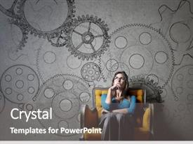 Cool new slides with brain - functioning gears backdrop and a gray colored foreground