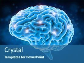 Slides with dendritic cells - brain power concept with 3d background and a ocean colored foreground.