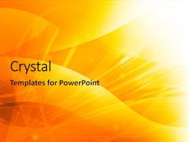 Amazing PPT theme having bright idea - abstract galaxy - perfect background backdrop and a gold colored foreground.