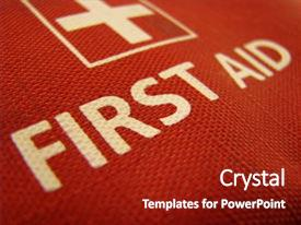 Presentation theme consisting of bright red first aid background and a crimson colored foreground.