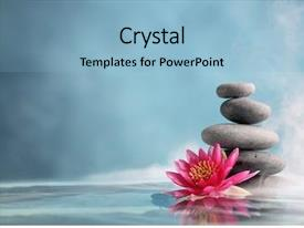 Amazing PPT layouts having buddhism - spa still life with water backdrop and a light blue colored foreground