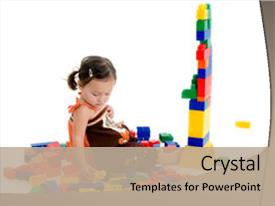 Theme featuring building blocks - adorable japanese american three year background and a mint green colored foreground.
