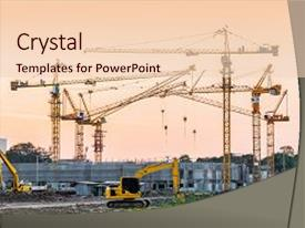 5000 tower crane powerpoint templates w tower crane themed backgrounds