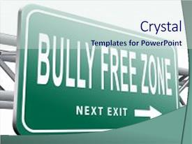 Top bullying powerpoint templates backgrounds slides and ppt themes presentation design featuring school violence bully free zone stop bullying background and a sky blue toneelgroepblik Gallery