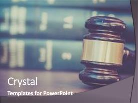 Presentation design consisting of burden of proof legal law background and a gray colored foreground.