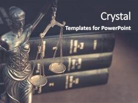 Presentation with criminal court - business - burden of proof background and a dark gray colored foreground.
