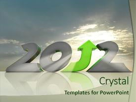 PPT theme enhanced with business growth in 2012 message background and a soft green colored foreground.