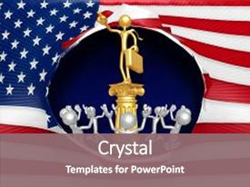 American idol powerpoint templates crystalgraphics colorful slide set enhanced with business man idol 3d illustration backdrop and a gray colored foreground toneelgroepblik Images