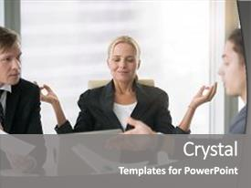 Cool new theme with business negotiation male partners arguing backdrop and a gray colored foreground.