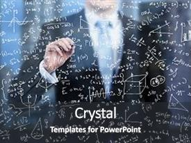 5000 business math powerpoint templates w business math themed ppt theme with math business person is writing down background and a dark gray colored toneelgroepblik Choice Image