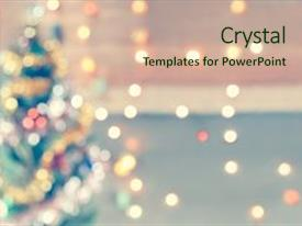 Audience pleasing theme consisting of template board - business - sparkle blur christmas backdrop and a soft green colored foreground.