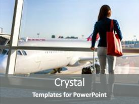 5000 travel powerpoint templates w travel themed backgrounds beautiful presentation featuring business tourist standing with luggage backdrop and a gray toneelgroepblik Gallery