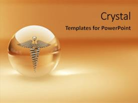 Beautiful slides featuring caduceus - symbol of medicine abstract background backdrop and a gold colored foreground.