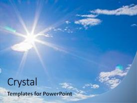 PPT theme consisting of can apply for sky background background and a light blue colored foreground.