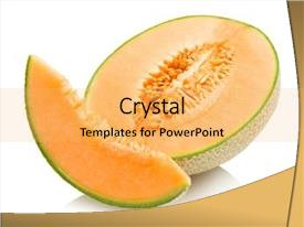 Cool new PPT theme with cantaloupe melon backdrop and a yellow colored foreground