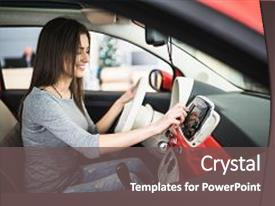 5000 radio powerpoint templates w radio themed backgrounds ppt theme featuring car dashboard closeup woman background and a gray colored foreground toneelgroepblik Images
