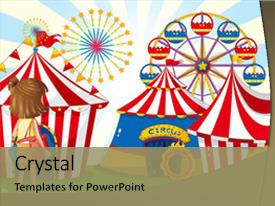 Top Ferris Wheel PowerPoint Templates, Backgrounds, Slides