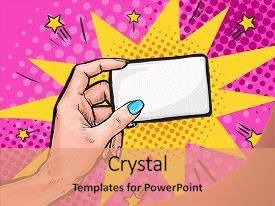Pop art powerpoint templates crystalgraphics slides having card in pop art background and a coral colored foreground toneelgroepblik Gallery