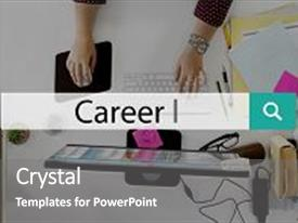 PPT layouts with career jobs recruitment employment occupation background and a gray colored foreground
