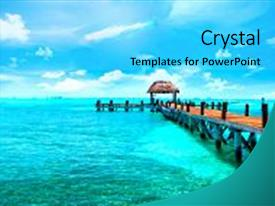 5000 tourism powerpoint templates w tourism themed backgrounds ppt layouts featuring dock caribbean sea jetty near cancun background and a cyan colored foreground toneelgroepblik