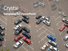 5000 car parking lot powerpoint templates w car parking lot themed