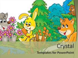 Top Cartoon Animals Powerpoint Templates Backgrounds