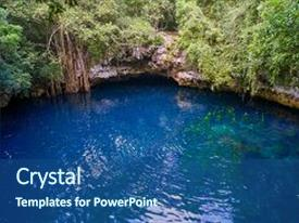 5000 jungle powerpoint templates w jungle themed backgrounds slides featuring cenote sinkhole in rainforest background and a ocean colored foreground toneelgroepblik Image collections