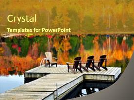 Cool new slide deck with chairs on calm fall backdrop and a tawny brown colored foreground.