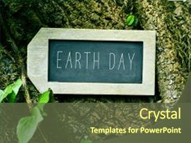 Cool new PPT theme with chalkboard with the text earth backdrop and a tawny brown colored foreground.