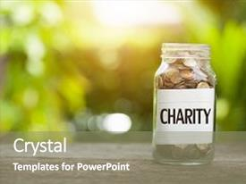5000 charity powerpoint templates w charity themed backgrounds beautiful ppt theme featuring charity word with coin in glass jar business concept backdrop and a toneelgroepblik Image collections