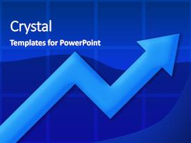 Cool new presentation theme with chart or graph showing backdrop and a royal blue colored foreground.