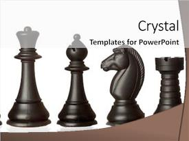 Colorful theme enhanced with black chess pieces in order backdrop and a white colored foreground
