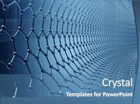 5000 nanotechnology powerpoint templates w nanotechnology themed slide deck having nano particle chemistry 3d rendering blue background and a teal colored toneelgroepblik Gallery