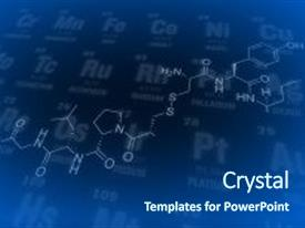 Beautiful slide deck featuring chemistry science formula chemistry science backdrop and a ocean colored foreground.